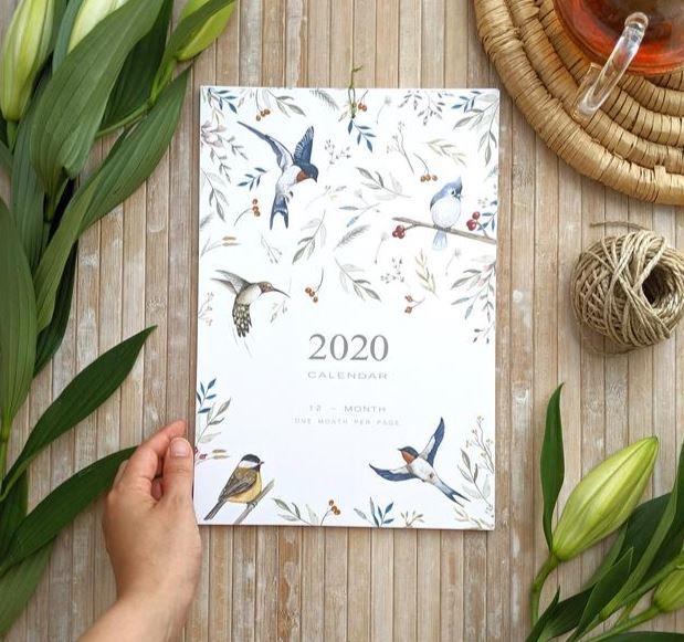 calendario plumas 2020